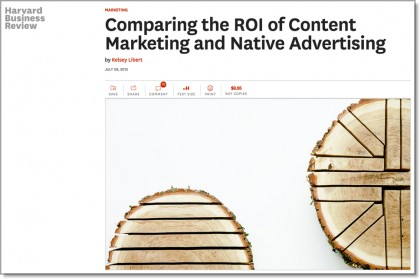 Comparing the ROI of Content Marketing and Native Advertising