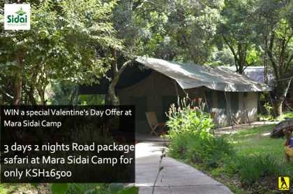 WIN a special Valentine's Day Offer at Mara Sidai Camp